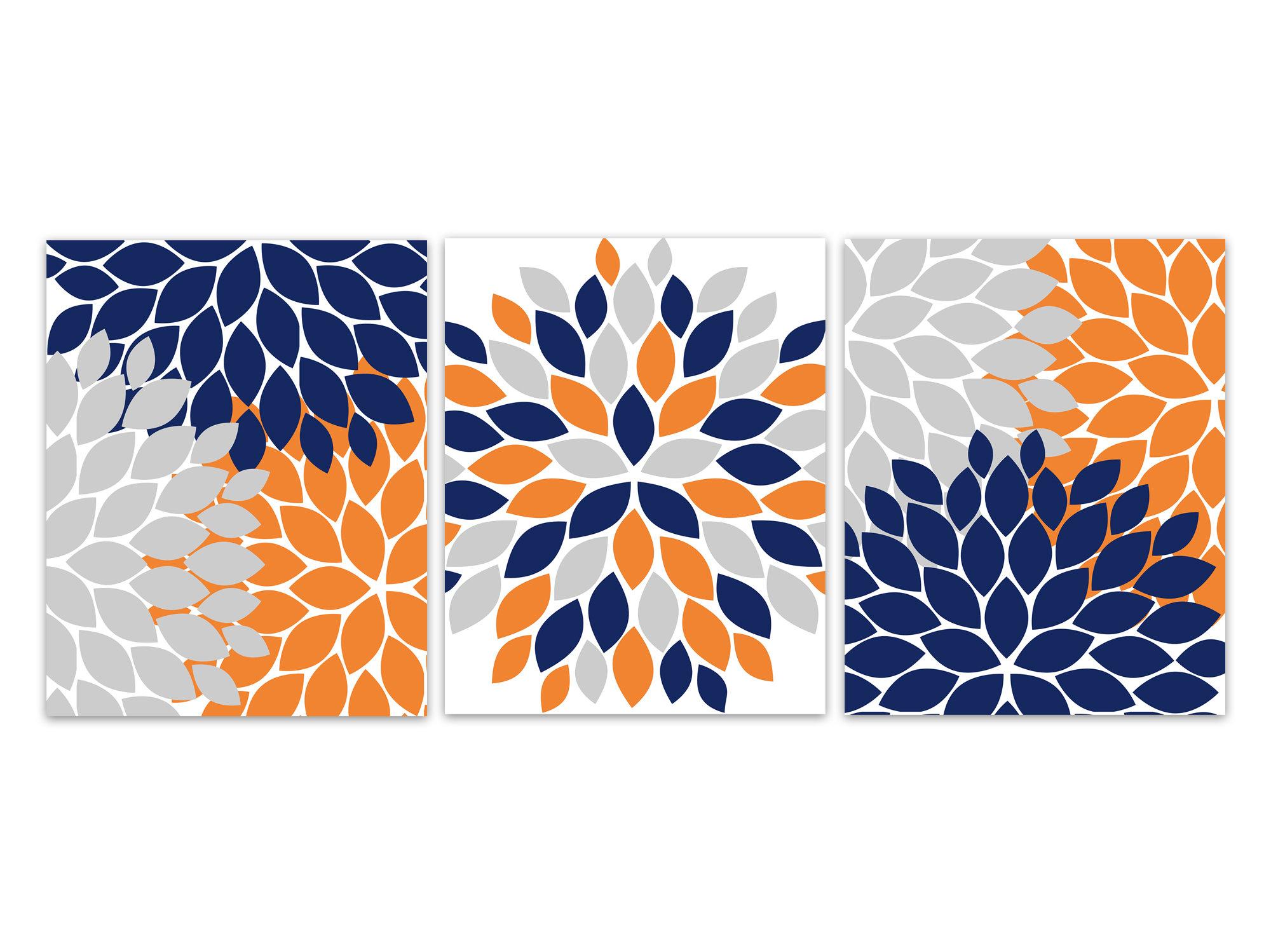 Home Decor Canvas Or Prints Home Decor Wall Art Orange And