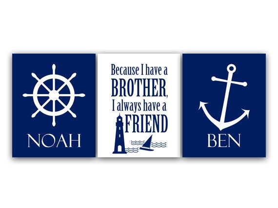 Brothers Wall Art, Brothers Quote CANVAS, Personalized Kids Wall Art ...