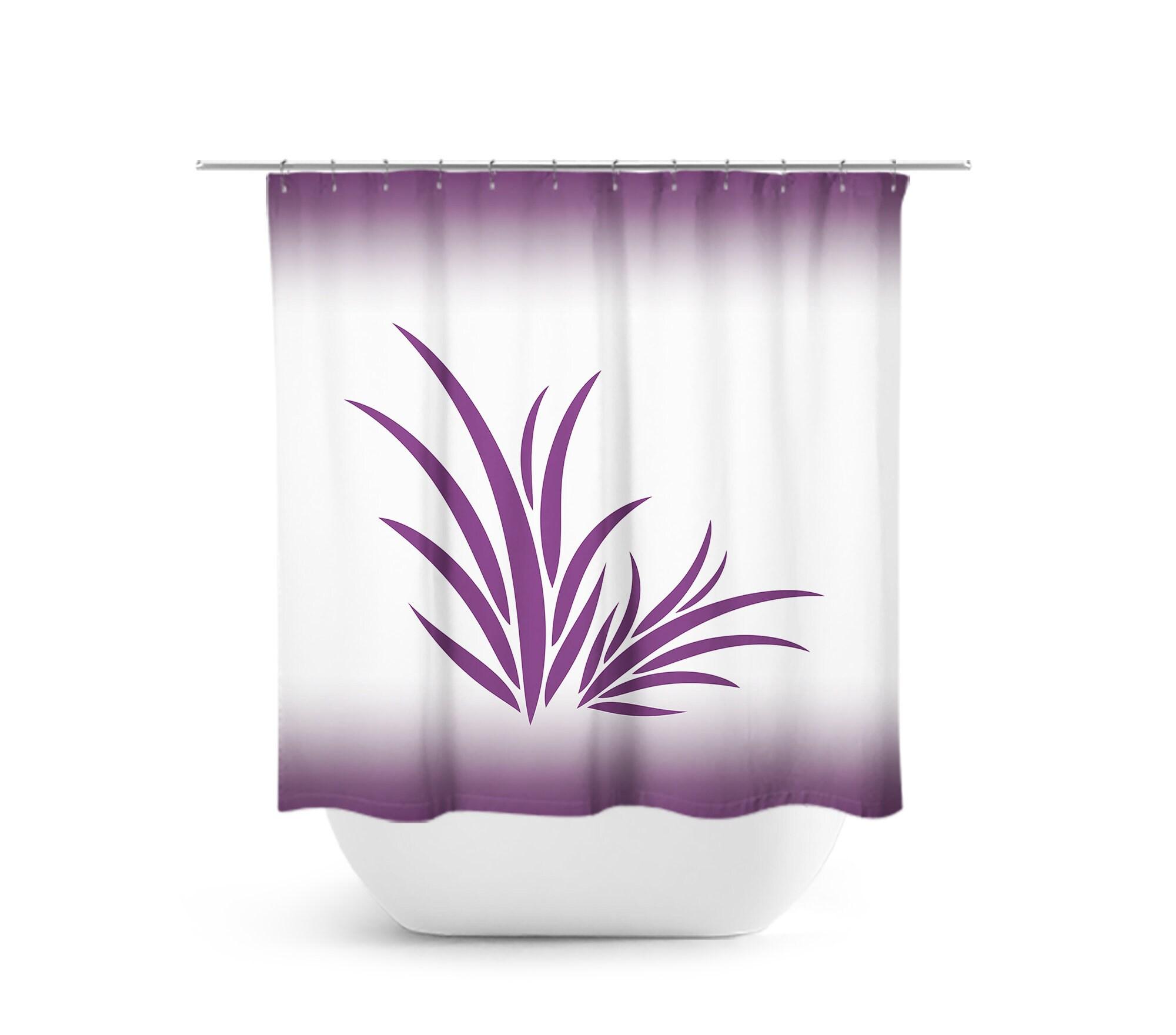 Purple Bathroom Purple Shower Curtain Seaweed Bath Curtain