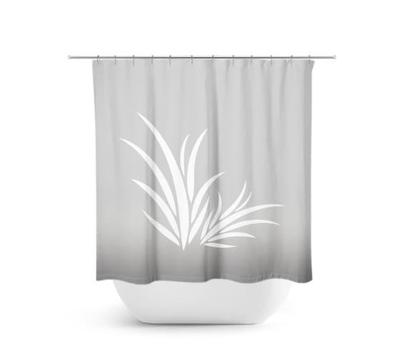 Gray Bathroom Decor Shower Curtain Seaweed Bath