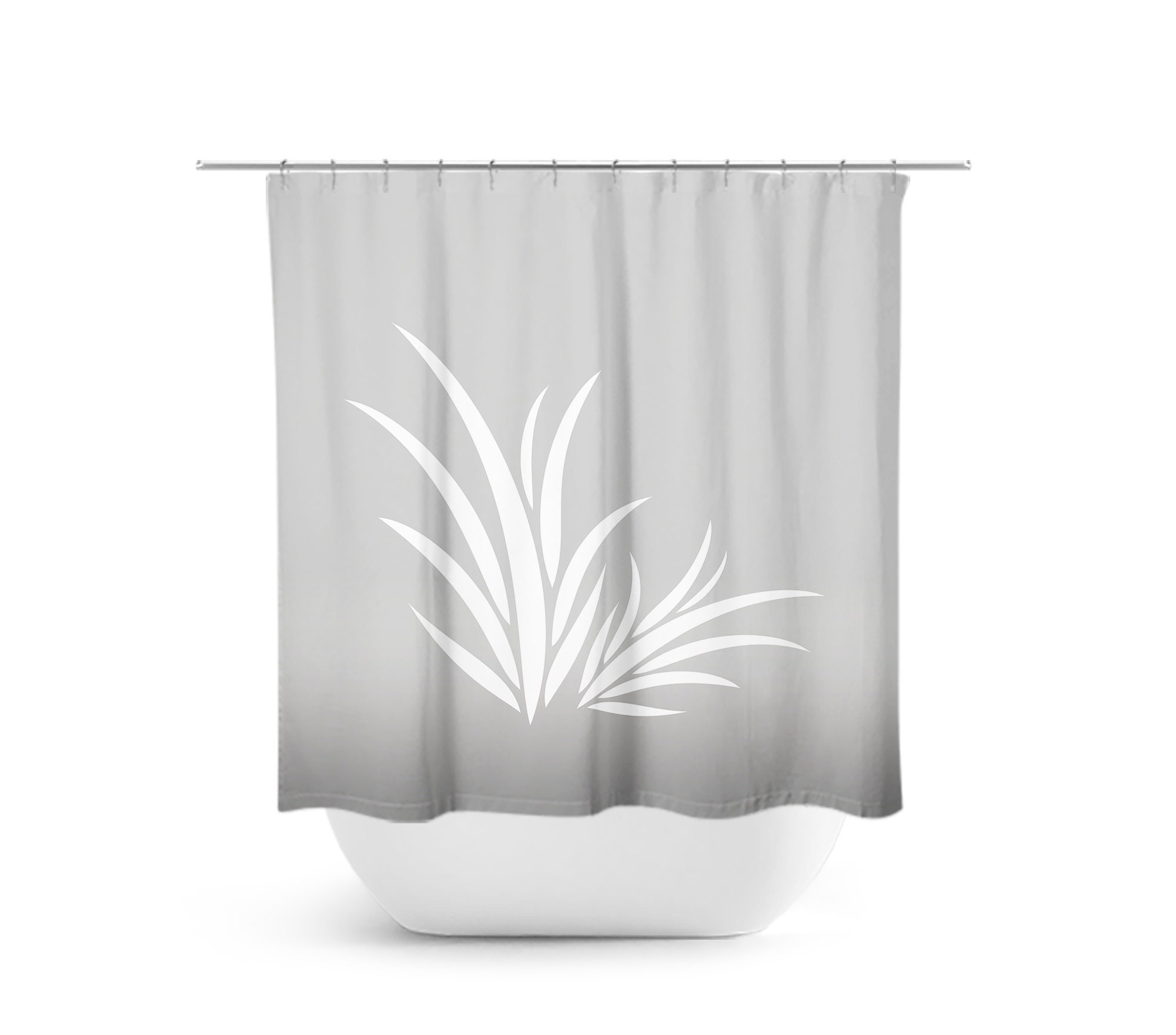 Gray Bathroom Decor Gray Shower Curtain Seaweed Bath