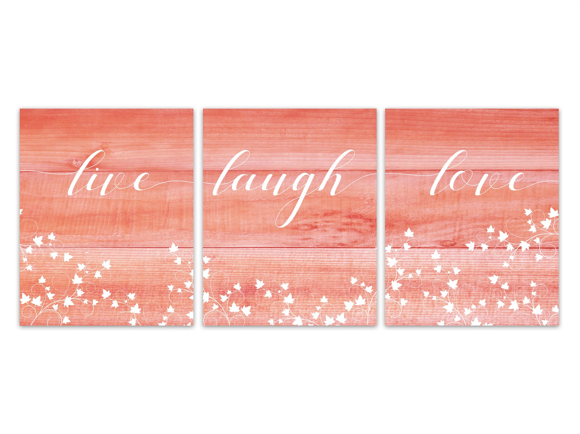 Live Laugh Love Home Decor Wall Art Print Or Canvas Ivy Prints