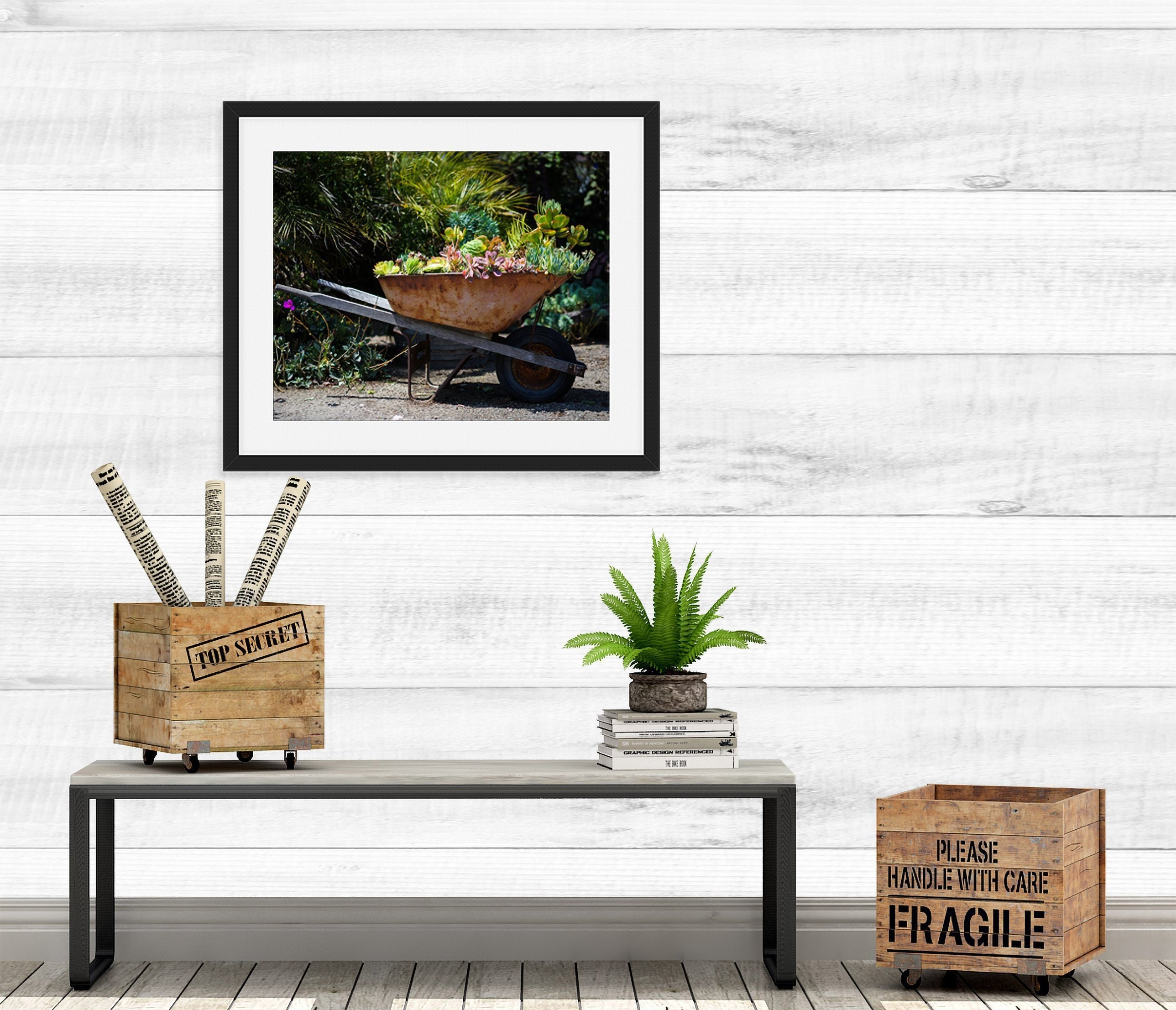 Succulent Picture Rustic Home Decor Wall Art Canvas Or Print