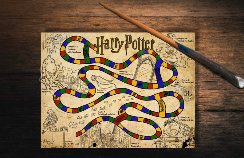Harry Potter Printable Board Game image 0