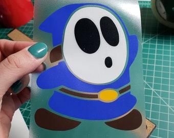 Nintendo Shy Guy Vinyl Decal / Car, Laptop Stickers / Full color