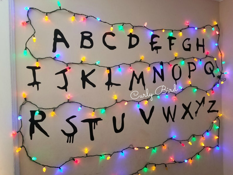 Stranger Alphabet Mural / Personalized Birthday Party Wall image 0