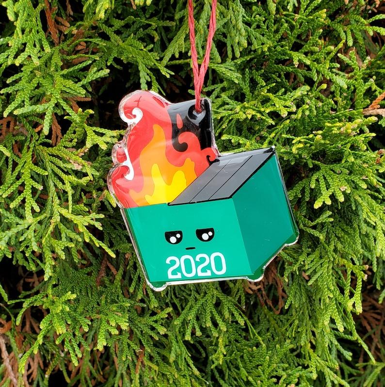 Dumpster Fire 2020 Ornament  Covid Christmas Ornament image 0
