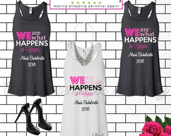 4a56a5813 Las Vegas tank tops // Bachelorette Party Tank top // We are what happens  in Vegas shirts