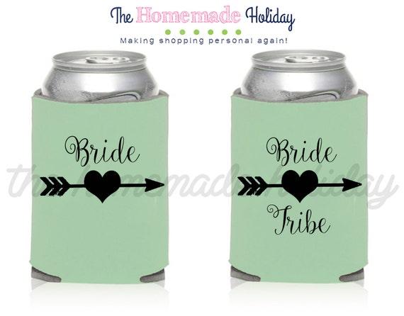 Conjunto de 3 Soporte novia tribu cerveza de lata del refrigerador del