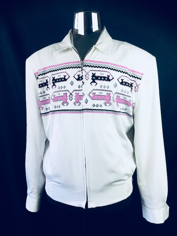 M Vintage 1950/'s Atomic Speck//Fleck Rockabilly VLV Swankys Shirt S