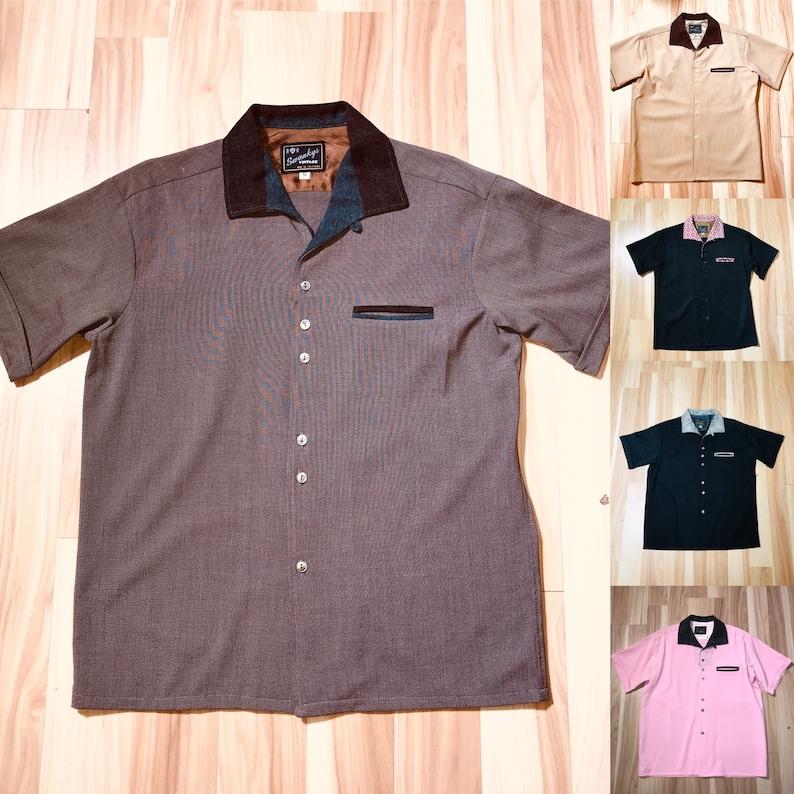 1950s Men's Clothing Sir Swanky Rayon 3 tone camp shirt S-3X $98.99 AT vintagedancer.com