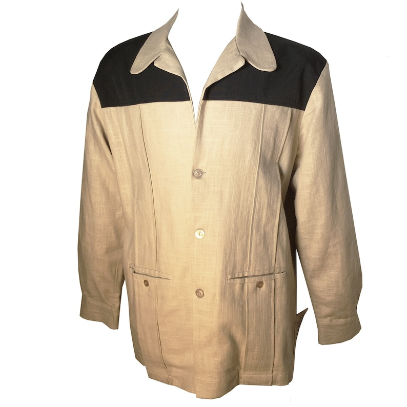 Men's Vintage Jackets & Coats Vintage*1950S Rockabilly VLV Rayon Novelty Hand Print Ricky Jacket-S-2X- $281.99 AT vintagedancer.com