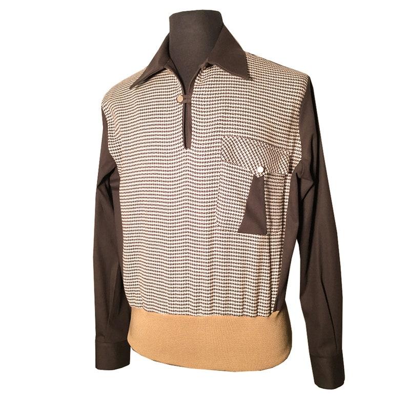 Mens Vintage Shirts – Retro Shirts Mens Swankys VTG 1940s-1950s Brown Jerry Lee Gaucho S-2X $130.99 AT vintagedancer.com
