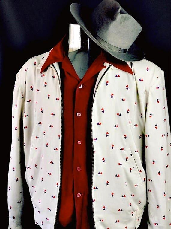 Xsmall-3X Vintage 1950s Rockabilly VLV Atomic Shadow Plaid Swankys Ricky Jacket