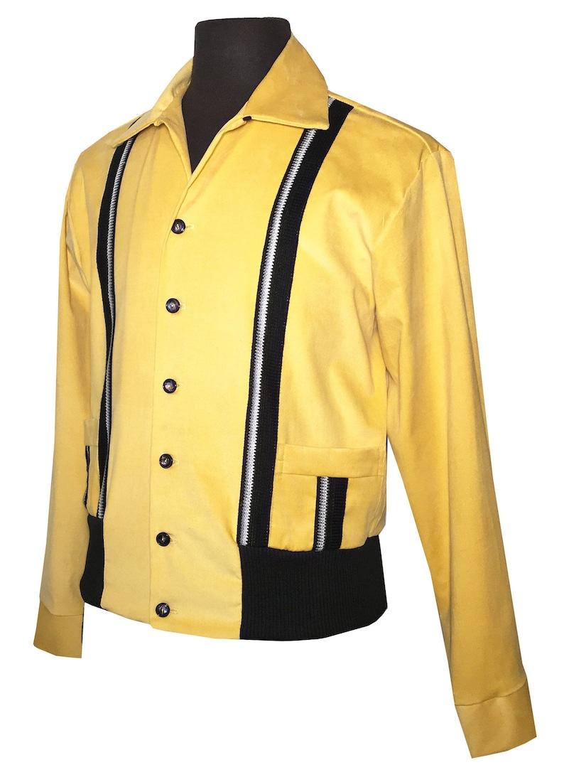 60s 70s Men's Jackets & Sweaters Mens Rockabilly Swankys VTG 1950s Yellow Sport Gaucho S-2X $130.99 AT vintagedancer.com