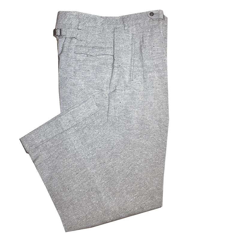 1950s Men's Pants, Trousers, Shorts | Rockabilly Jeans, Greaser Styles Vintage 1940s-1950s Mens Buckle Back Pants $161.90 AT vintagedancer.com