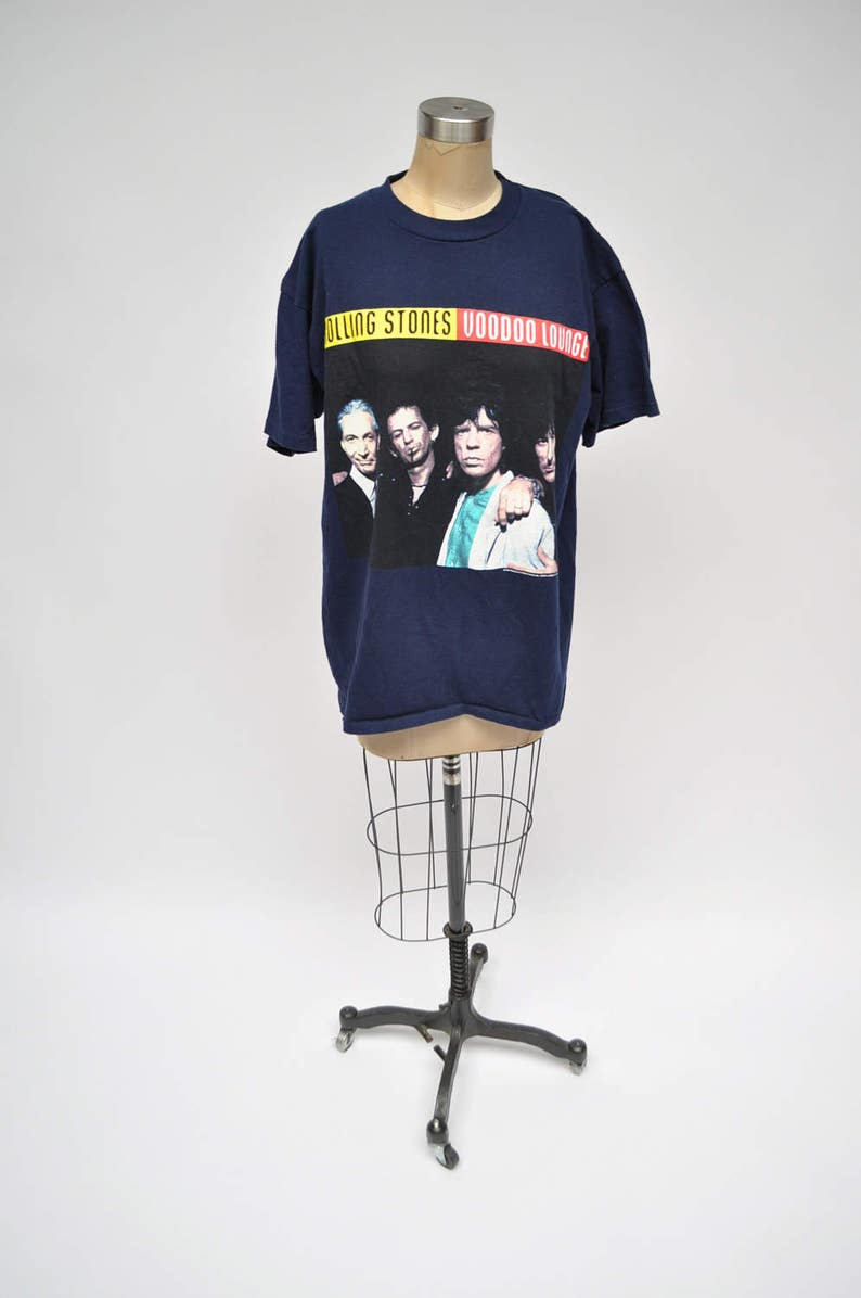 vintage tshirt ROLLING STONES tshirt rock shirt voodoo lounge 1990s large