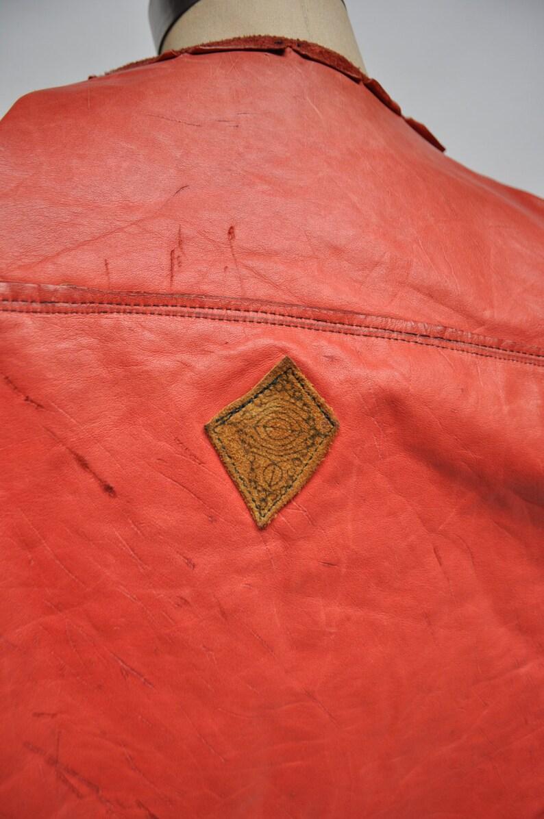 vintage leather jacket custom made FRINGE suede 1960s hippie