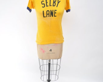 SELBY LANE vintage ringer tshirt t-shirt shirt 1950s russell southern co 50s