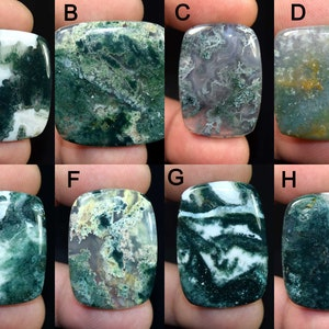 82 Ct #9092 Top Quality Green Moos Agate Gemstone Hand Polish Loose Stone Semi Precious Jewelry Making Moss Agate Cabochon For Jewelry