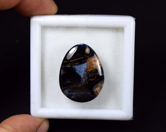 28.05 Cts. 100% Natural Pietersite Egg Cabochon Untreated Loose Gemstone