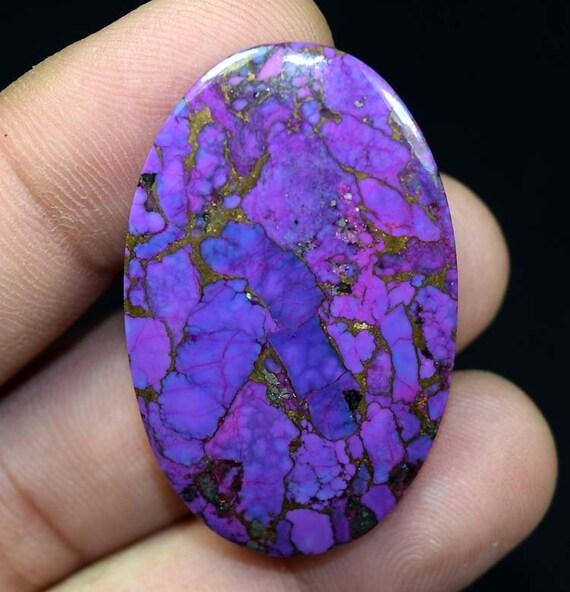 41.15 cts. Purple précieuses cuivre Mohave pierres précieuses Purple en vrac Cabochon ovale Turquoise 42,5 * 27 * 4 mm 6a1018