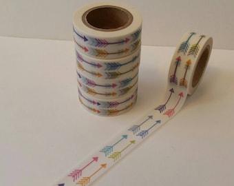 Adorable Rainbow Arrow Washi Tape  15mm x 10m