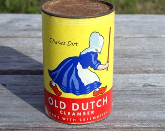 Antique Old Dutch Cleanser box, 1940's, Toronto, Canada