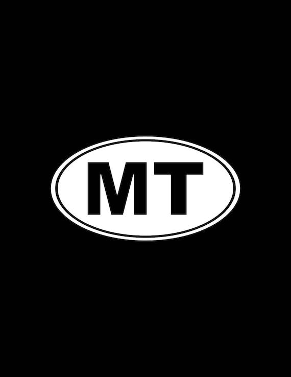 MONTANA    MT OVAL VINYL DECAL//STICKER