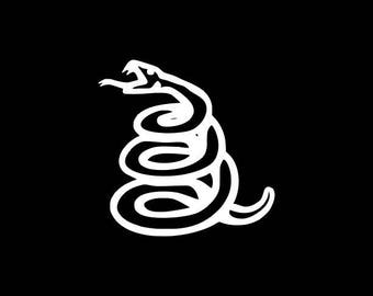 Don't Tread On Me Snake Decal, Snake Decal, Coiled Snake Decal,Don't Tread On Me Vinyl Sticker Car Decal