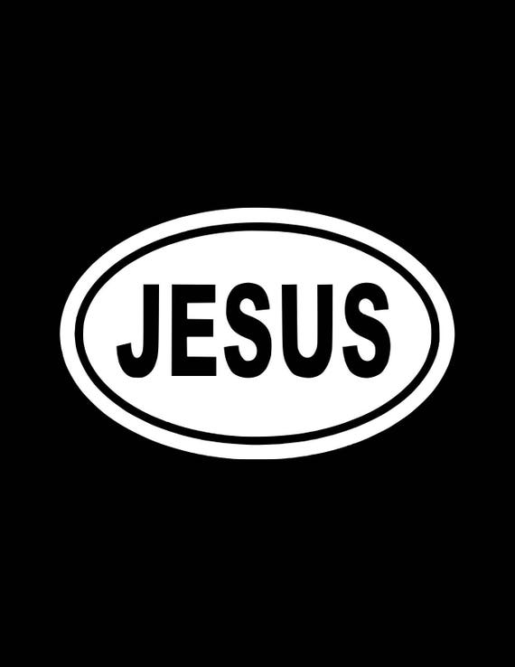 Jésus croix chrétienne Vinyle Autocollant Décalque Symbole Emblème Voiture Fenêtre Pare-chocs mur
