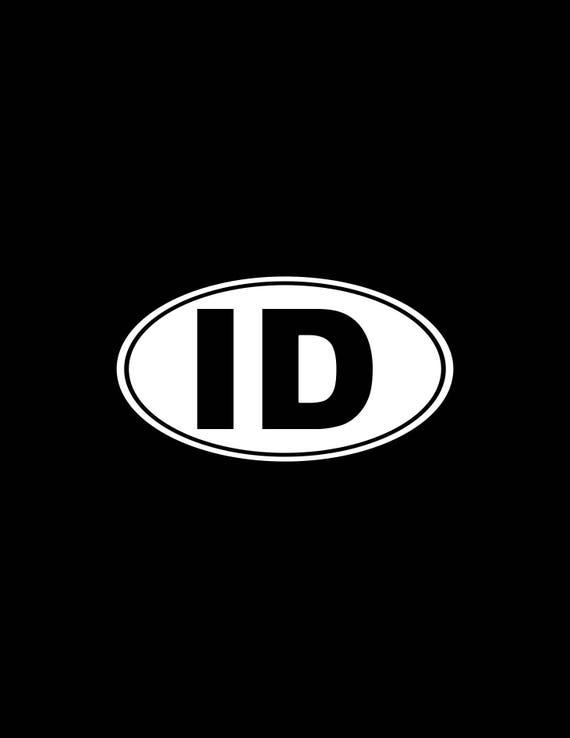 """Rhode Island RI White State Oval car window bumper sticker decal 5/"""" x 3/"""""""