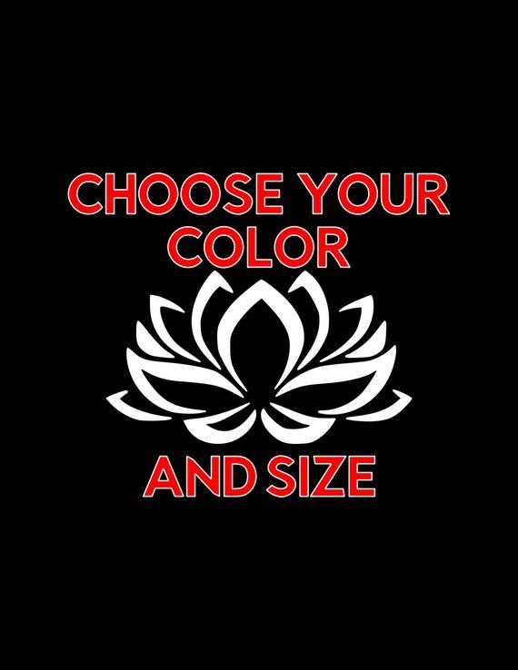 Choose Size /& Color Lotus Aum Om Vinyl Sticker Decal Buddha Enlightenment