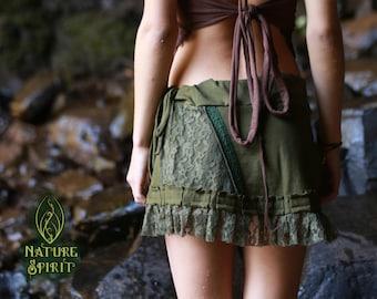 Pixie Skirt, Shakti Skirt, Mini Skirt, Lace Skirt, Pixie, Fairy Skirt, Tribal Clothing, Boho, Burning Man, Festival Clothing, Sexy Skirt