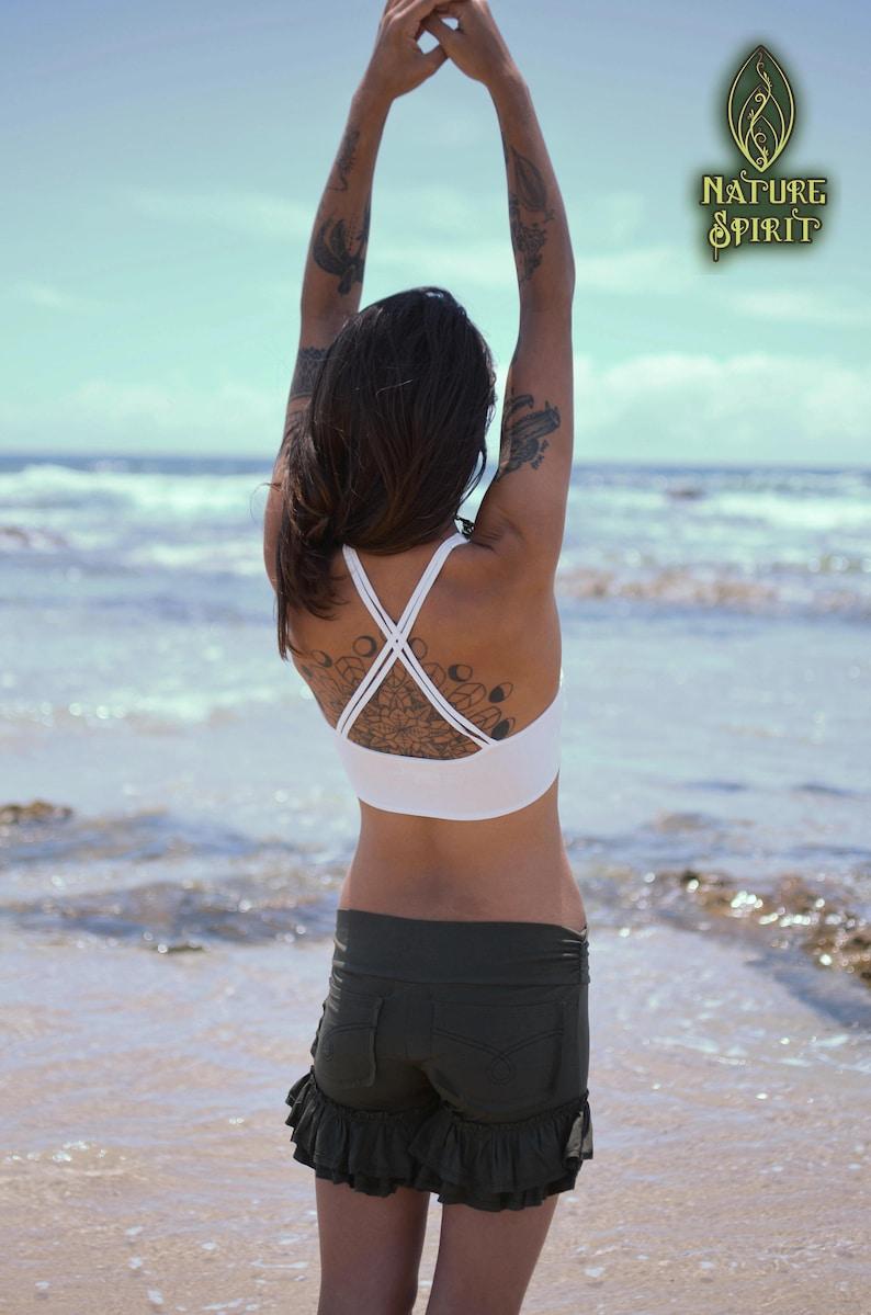 Festival Top Burning Man Clothing Pixie Goa Shanti Yoga Bra Yoga Top Sports Bra Hippie Top Yoga Clothing Tribal Clothing Crop Top