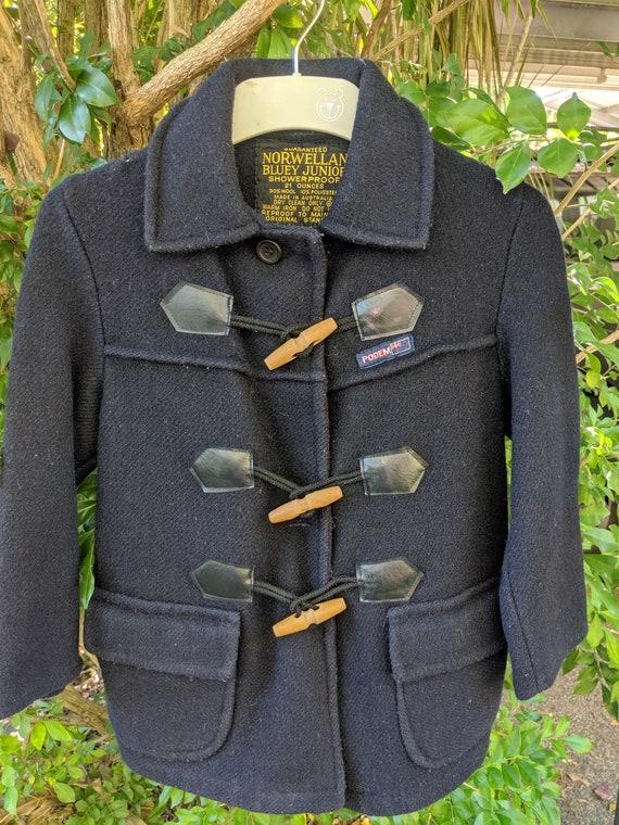 Brilliant 70's Kids Australian Duffel Coat, Size 7