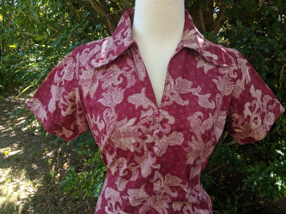 Fab 70's Paisley Cotton Dress