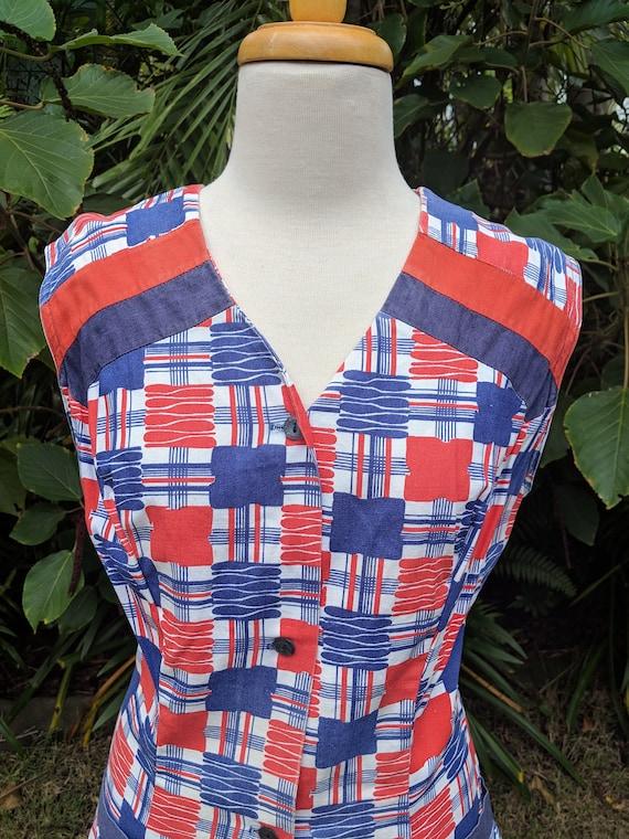 Fab 70's Button Through Handmade Housedress
