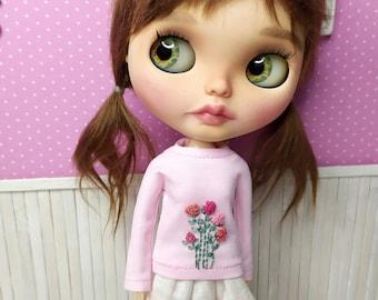 Blythe T-shirt (various models), Blythe Clothing, Blythe Outfit, Blythe Jersey, Blythe Sweater, Blythe White T-shirt, 1/6 30 cm