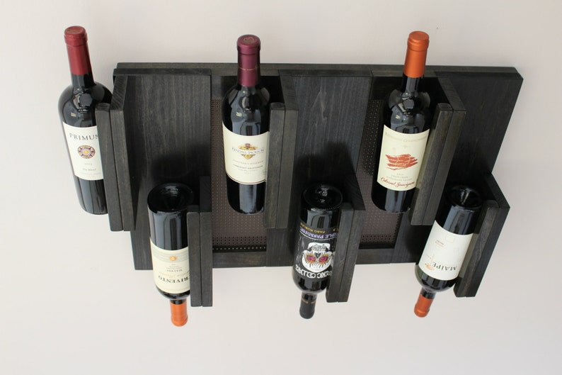 Wall Mounted Wine Rack Handmade Wine Rack Custom Wine Rack Etsy