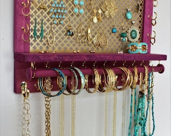 Custom jewelry rack Etsy