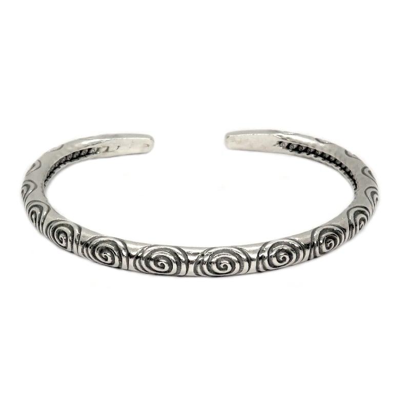 Sterling Boho Argent Manchette Fait Bracelet 3R5Aq4jL