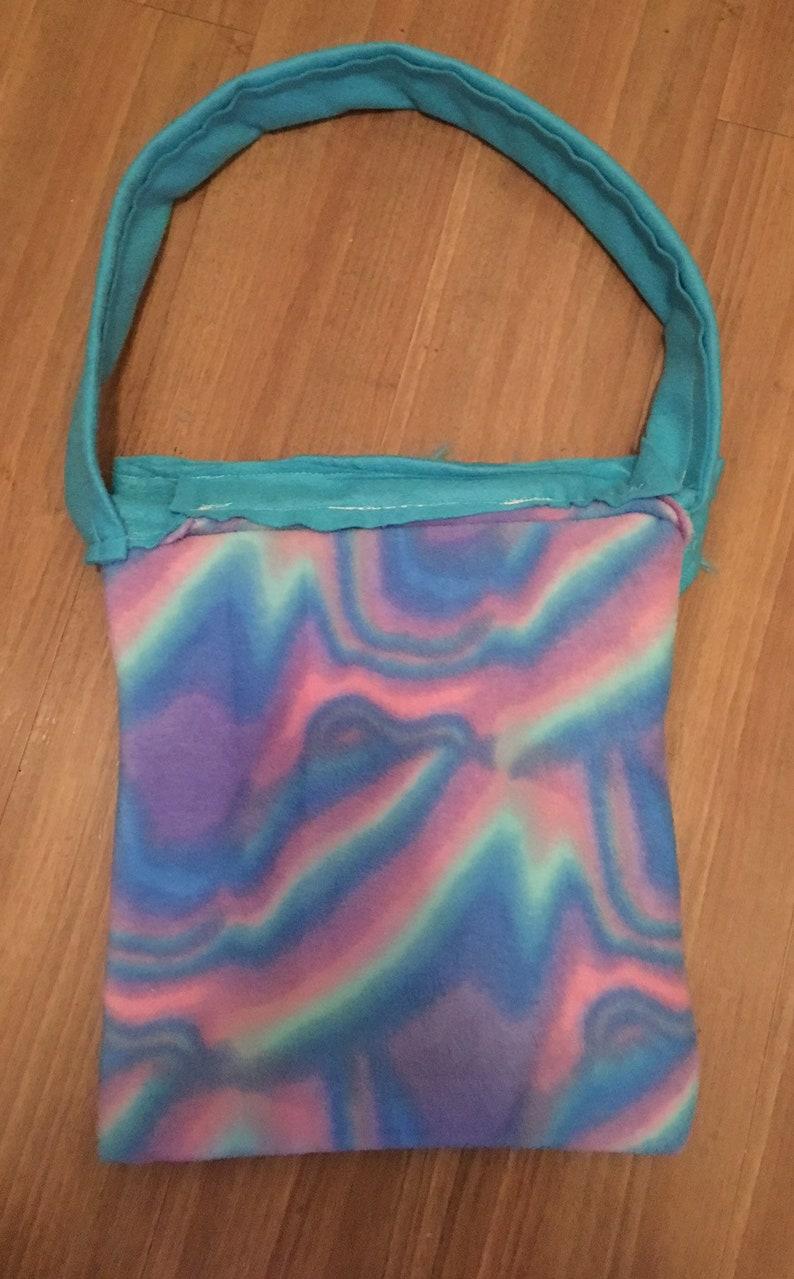 Handmade OOAK Hippie Gypsy bag purse handbag tote shopping boho chic funky yoga fashion bohemian psychedelic Native American fuzzy tye dye