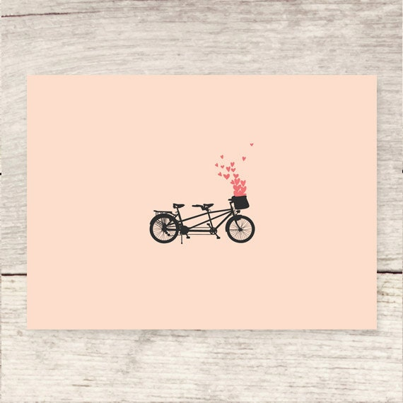 Greeting Card NEW Details about  /SWEETEST Bicycle Bike Couple Heart Balloons Basket Pink LARGE