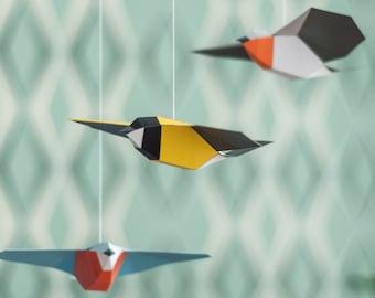 Songbird Mobilé - DIY Papercraft Kit (pre-cut)