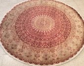 Round High Quality Hand Knotted Persian rug, Tribal Life Tree Rug, New Persian Hand Woven Area Rug, Home decoration, Carpet, Rug, No. 44