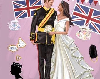 "Art print ""Meghan and Harry"" Royal wedding"