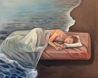 """Art print """"Sleep 2"""" of oil painting"""
