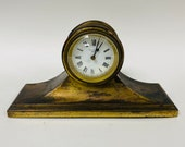 f463 Vintage New Haven USA 8 Day Mantel Standing Clock