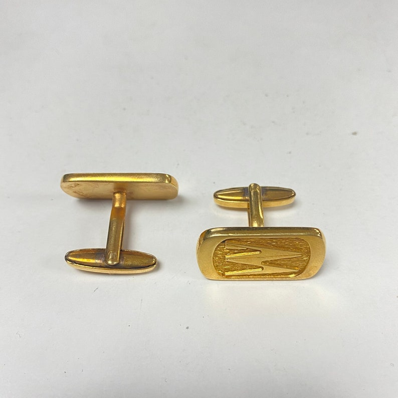 f659 Vintage Sterling Silver Gold Tone Men/'s Cuff Links